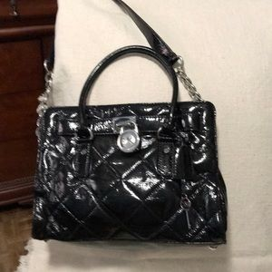 Black Quilted MK handbag